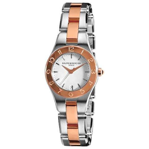 Baume & Mercier Women's MOA10015 'Linea' 18K Rose Gold Two-Tone Stainless Steel Watch