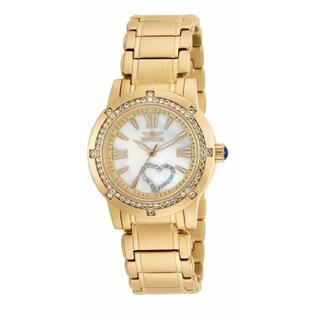 Invicta Women's 16709 'Angel' Mechanical Gold-tone Stainless Steel Watch