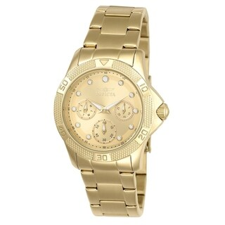 Invicta Women's 21766 'Angel' Gold-tone Stainless Steel Watch