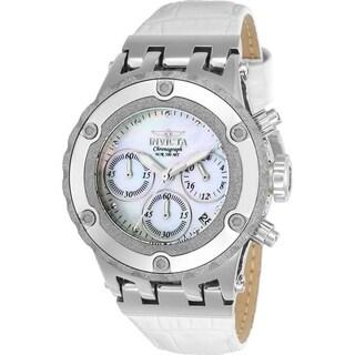 Invicta Women's 23241 'Subaqua' White Leather Watch