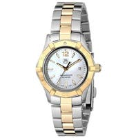 Tag Heuer Women's WAF1424.BB0825 'Aquaracer' 18kt yellow gold Two-Tone Stainless Steel Watch