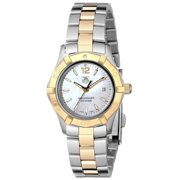 c3f72db937b Shop Tag Heuer Women s WAF1424.BB0825  Aquaracer  18kt yellow gold Two-Tone  Stainless Steel Watch - Free Shipping Today - Overstock - 22749697