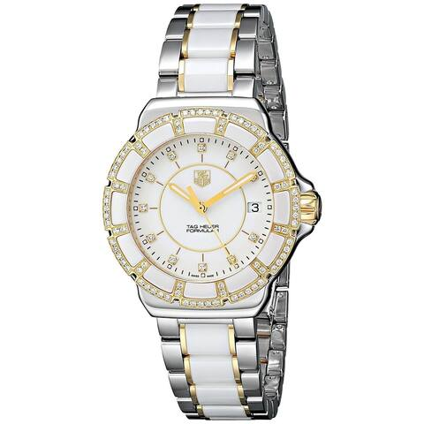 Tag Heuer Women's WAH1221.BB0865 'Formula 1' Diamond Two-Tone Stainless Steel and Ceramic Watch