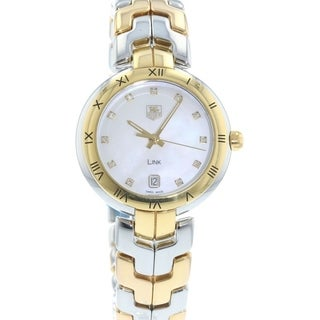 Tag Heuer Women's WAT1351.BB0957 'Link' 18kt Yellow Gold Diamond Two-Tone Stainless Steel and Gold Watch