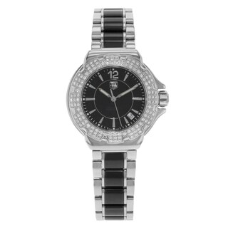 Tag Heuer Women's WAH1214.BA0859 'Formula 1' Diamond Two-Tone Stainless Steel and Ceramic Watch