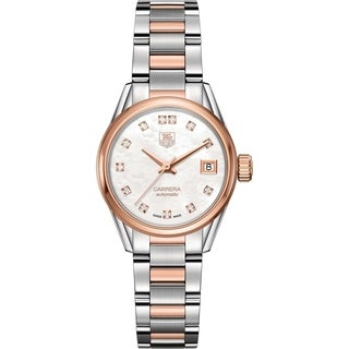 Tag Heuer Women's WAR2452.BD0777 'Carrera' 18kt Rose Gold Automatic Two-Tone Stainless Steel and Gold Watch
