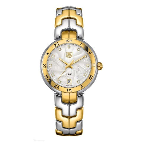 Tag Heuer Women's WAT1350.BB0957 'Link' 18kt yellow gold Diamond Two-Tone Stainless Steel Watch