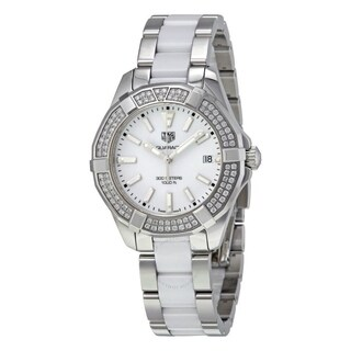 Tag Heuer Women's WAY131F.BA0914 'Aquaracer' Diamond Two-Tone Stainless steel and Ceramic Watch