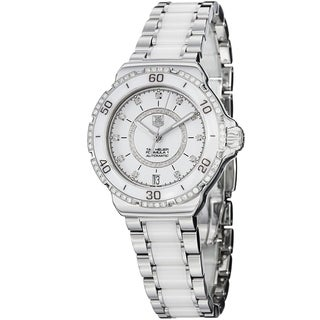 Tag Heuer Women's WAU2213.BA0861 'Formula 1' Diamond Automatic Two-Tone Stainless Steel and ceramic Watch