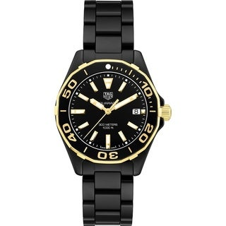 Tag Heuer Women's WAY1321.BH0743 'Aquaracer' Black Ceramic Watch