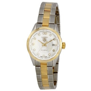 Link to Tag Heuer Women's WV2450.BD0797 'Carrera' 18kt yellow gold Diamond Automatic Two-Tone Stainless Steel Watch Similar Items in Men's Watches