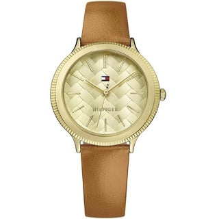 Tommy Hilfiger Women's 1781859 'Candice' Brown Leather Watch