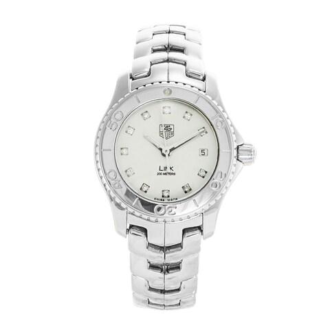 Tag Heuer Women's WJ1319.BA0572 'Link' Diamond Stainless Steel Watch