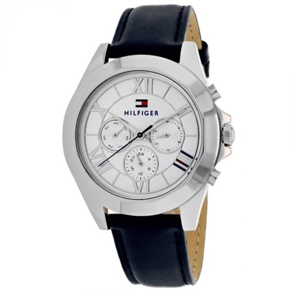 more photos cca80 2ba00 Tommy Hilfiger Women's 1781850 'Chelsea' Multi-Function Blue Leather Watch