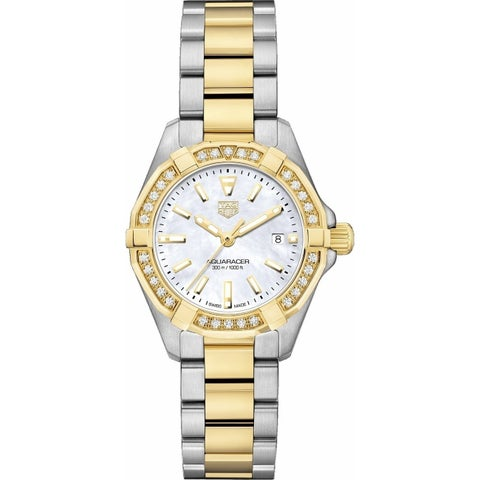 Tag Heuer Women's WBD1421.BB0321 'Aquaracer' 18kt yellow gold diamond Two-Tone Stainless Steel and Gold Watch