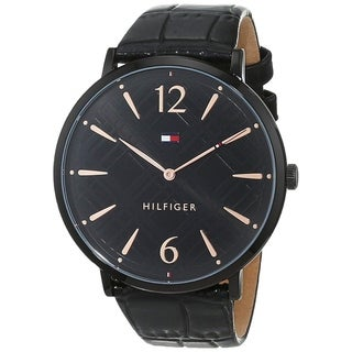Tommy Hilfiger Women's 1781842 'Classic' Black Leather Watch
