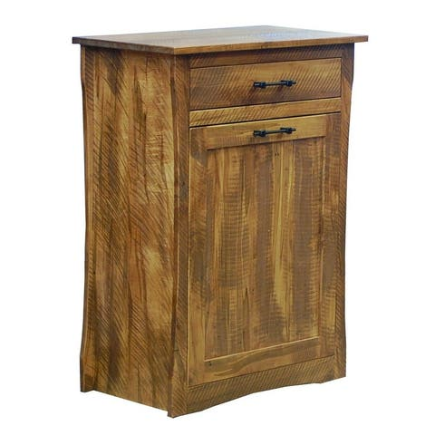 Large Tilt-Out Trash Can in Rough Sawn Maple