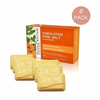 Natural Solution Himalayan Pink Salt 5.2-ounce Turmeric & Neem Soap Bar (Pack of 6)