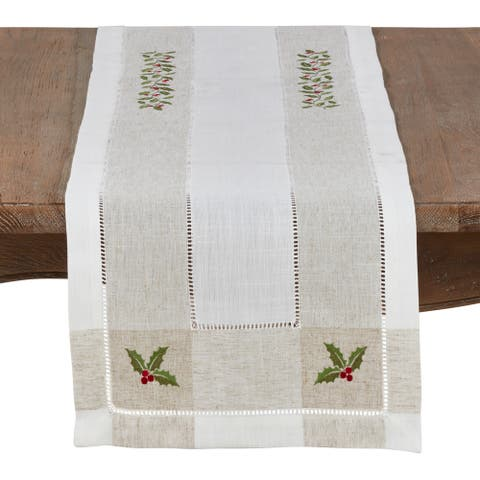 Christmas Runner with Holly Design