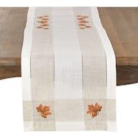 Autumn Design Poly And Linen Blend Runner