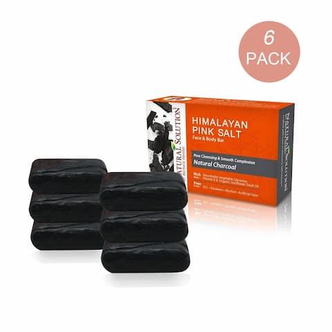 Natural Solution Charcoal Soap Bar, 6 Pcs