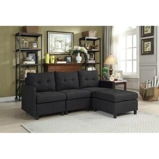 Copper Grove Soden 4-piece Charcoal Linen Fabric Modular Sectional Sofa