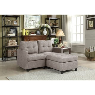Copper Grove Soden 3-piece Grey Linen Fabric Modular Sectional Sofa