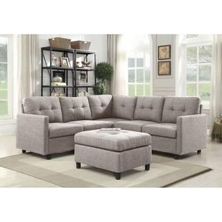 Copper Grove Soden 6-piece Grey Linen Fabric Modular Sectional Sofa
