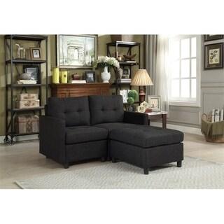 Copper Grove Soden 3-piece Charcoal Linen Fabric Modular Sectional Sofa
