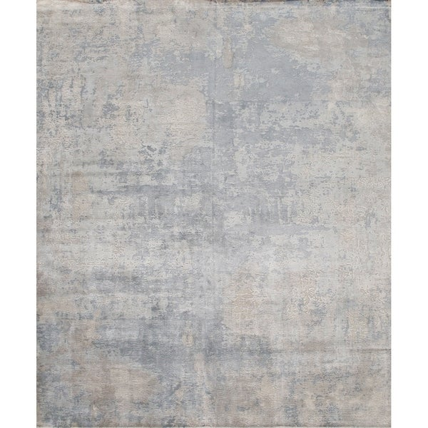 Pasargad Modern Collection Hand-Loomed Bamboo Silk Area Rug - 6' x 9'