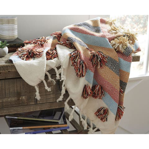 Jacinta Throw Blanket in Off-White