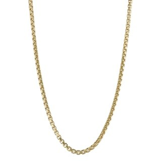 Gioelli 14K Gold Box Chain Necklace 2.45mm