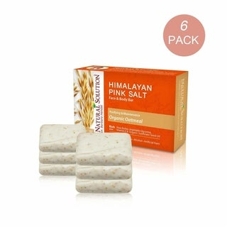 Natural Solution Himalayan Pink Salt 5.2-ounce Organic Oatmeal Soap Bar (Pack of 6)