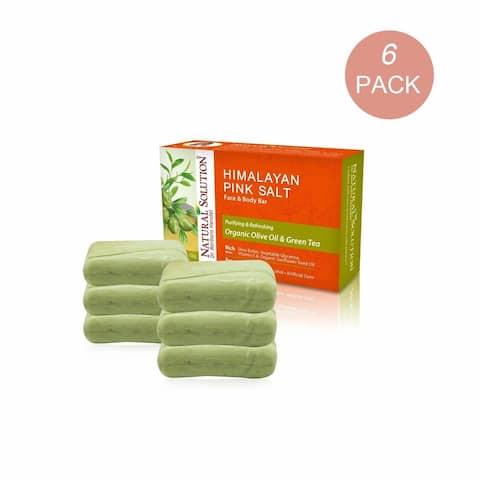 Natural Solution Green Tea & Olive Oil Soap Bar, 6 Pack