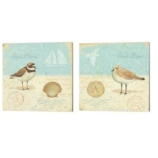 Daphne Brissonnet 'Natural Seashore' Canvas Art (Set of 2)