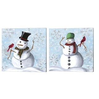 Megan Duncanson 'Winter Cheer' Canvas Art (Set of 2)
