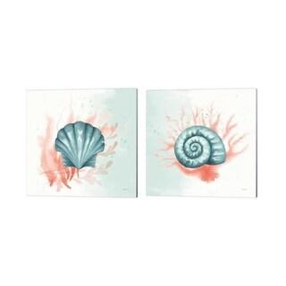 Elyse DeNeige 'Splash' Canvas Art (Set of 2)