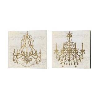 Aimee Wilson 'Golden Chandelier' Canvas Art (Set of 2)
