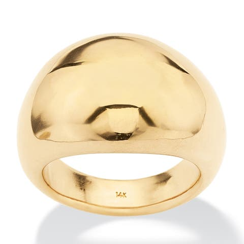 14K Yellow Gold Polished Dome Ring (6.5mm)