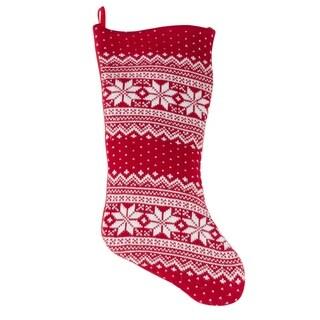 Snowflake Design Christmas Sweater Stocking