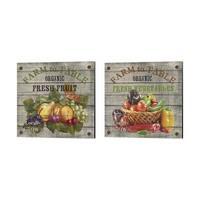 Jean Plout 'Farm to Table - Fresh Vegetables & Fruit' Canvas Art (Set of 2)