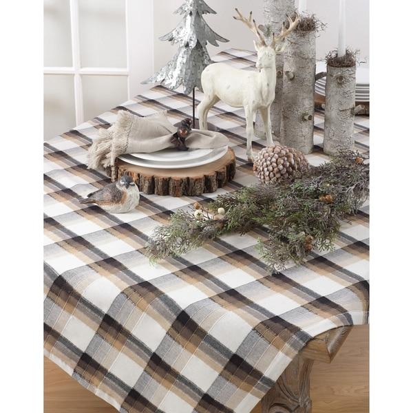 Classic Plaid Cotton Tablecloth