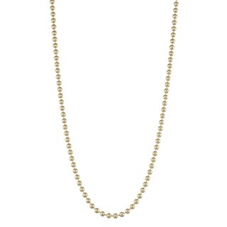 Gioelli 14K Gold Ball Chain Necklace 2.0mm