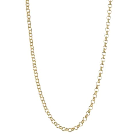 Gioelli 14K Gold Rolo Chain Necklace 3.0mm