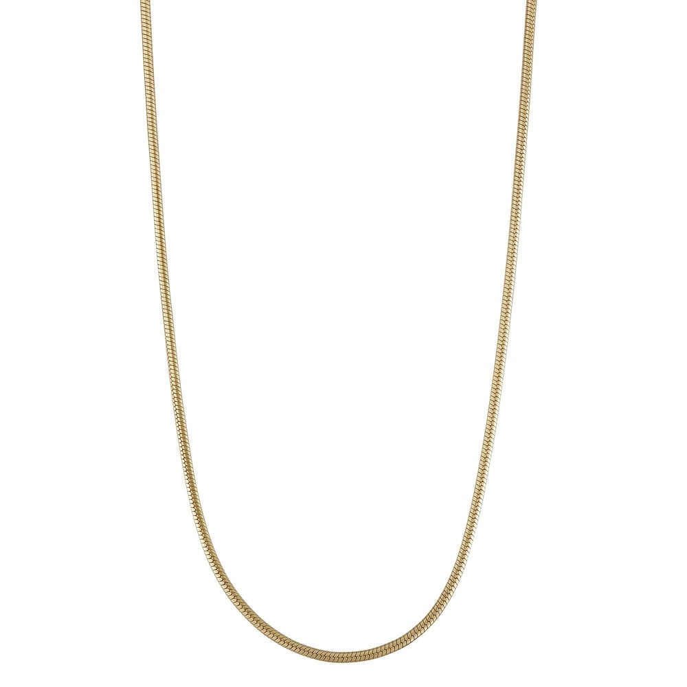 Square Box Snake Diamond Cut Chain Necklace Real 10K Yellow Gold 1.9mm