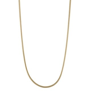 Gioelli 14K Gold Round Snake Chain Necklace 1.6mm