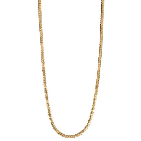 14K Gold 2.65mm Herringbone Chain Necklace by Gioelli