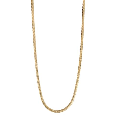 Gioelli 14K Gold Herringbone Chain Necklace 2.65mm