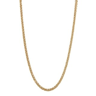 Gioelli 14K Gold Wheat Chain Necklace 2.6mm