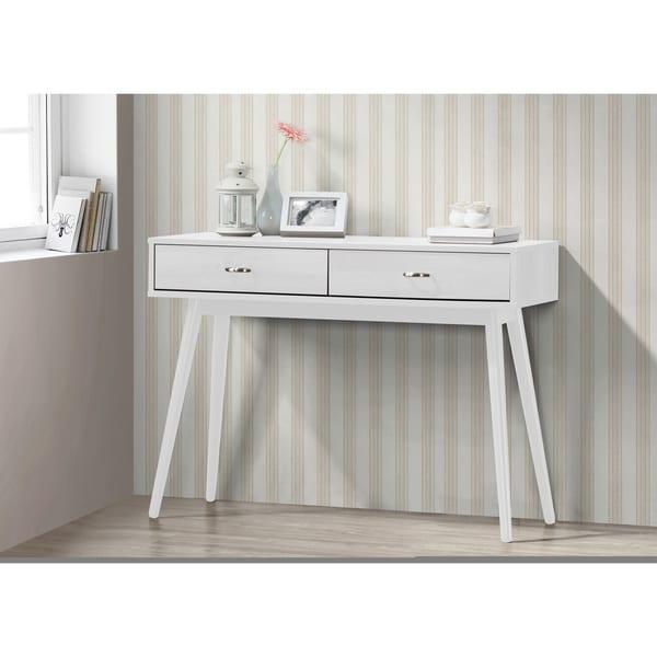 Shop Montage White 2-drawer Mid-century Modern Desk